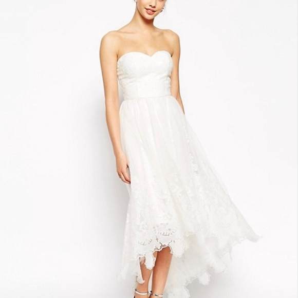 Asos Chi Chi London White Lace Dress